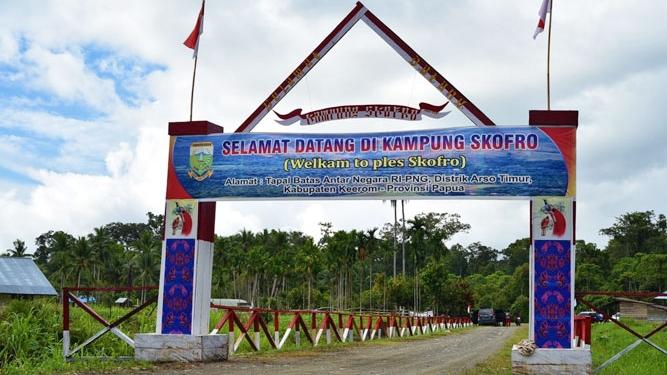 Hitam Putih Kampung Skofro Di Batas Negara Nokenlive Berita Papua Terkini